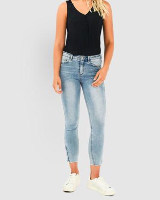Forcast Ellison Cropped Zip Jeans