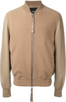 Blood Brother Sand bomber jacket - men - Cotton/Lamb Nubuck Leather - XS