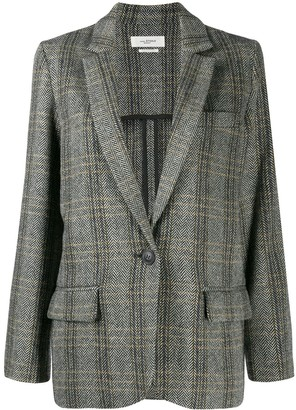 Etoile Isabel Marant Herringbone Single-Breasted Blazer