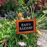 Studio M Gyspy Garden Collection Mini Happy Harvest Sign with Hook by