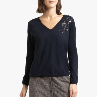 Des Petits Hauts Bennet Wool/Cashmere Jumper with V-Neck