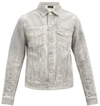 John Elliott Thumper Jacket Type Iii Distressed Denim Jacket - Grey