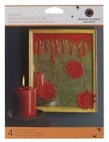 Martha Stewart Crafts Halloween Bloody Glitter Gel Clings