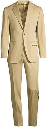 Canali Modern-Fit Stretch Cotton Suit
