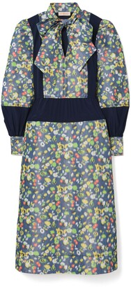 Tory Burch Taffeta Floral Dress
