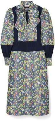 Tory Burch Taffeta Floral Dress