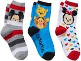 Disney Disney's Tsum Tsum Mickey Mouse, Minnie Mouse & Winnie the Pooh Girls 4-6x 3-pk. Crew Socks Gift Box