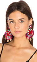 Ranjana Khan Statement Earring in Red.