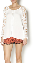 Double Zero White Lace Sleeve Blouse