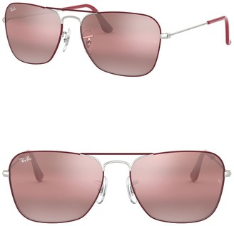 Ray-Ban Icons 55mm Polarized Navigator Sunglasses