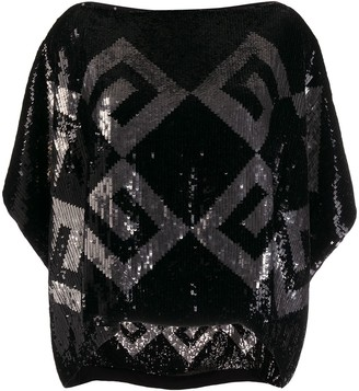Givenchy Boat Neck Sequinned Top