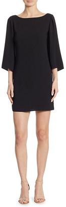 Halston Bell-Sleeve Mini Dress