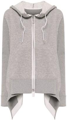 Sacai Stretch-cotton hoodie