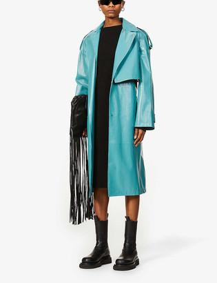 Bottega Veneta Cut-out wool and cotton-blend midi dress