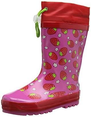 Playshoes Unisex Kids' Girls Wellies Strawberries Wellington Boots, Pink 18, 32/33 EU