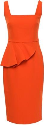 Safiyaa Draped Crepe Dress