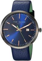 Ted Baker Men's 'JACK' Quartz Stainless Steel and Leather Dress Watch, Color: (Model: 10031563)