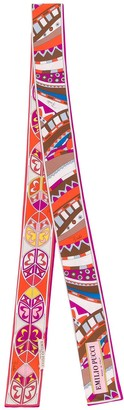 Emilio Pucci Geometric Print Silk Twill Scarf