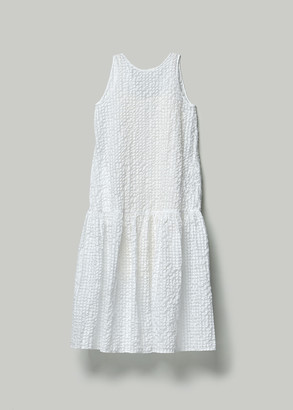 Xiao Li Women's Full Length Gathered Dress in White Size Small Cotton/Polyester/Polyamide