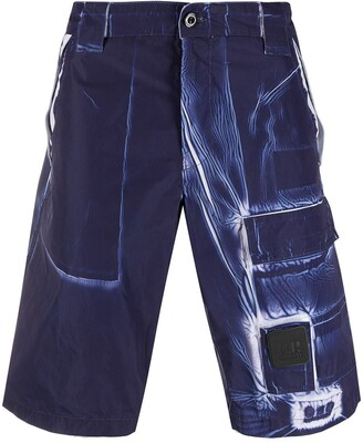 C.P. Company Distressed Knee-Length Shorts