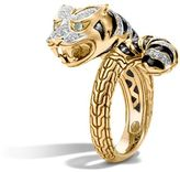 John Hardy Macan Bypass Ring with Diamonds