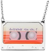 """Marvel Women's Guardians of the Galaxy Mix Tape Steel and Epoxy Pendant Necklace (16"""" + 2"""" ext.)"""