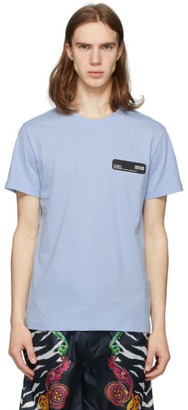 Versace Blue Rubber Logo T-Shirt