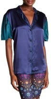 Cynthia Rowley Silk Charmeuse Night Shirt