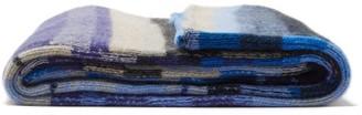 The Elder Statesman Super Soft Striped Cashmere Blanket - Blue Multi