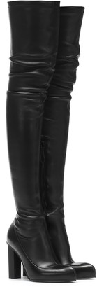 Alexander McQueen Peak leather over-the-knee boots