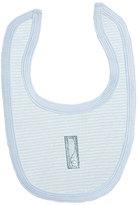 Kushies Blue Stripe Embroidered-Accent Bib