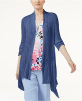INC International Concepts Petite Ribbed Open-Front Cardigan, Created for Macy's