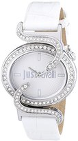 Just Cavalli Sin Women's Quartz Watch with Silver Dial Analogue Display and Purple Leather Strap R7251591502