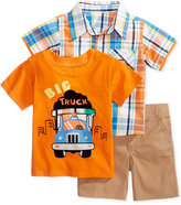 Nannette 3-Pc. Big Truck T-Shirt, Plaid Shirt & Shorts Set, Baby Boys (0-24 months)