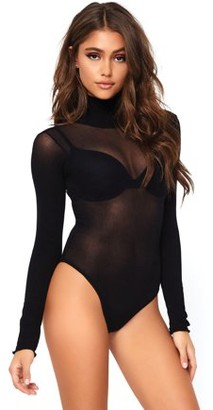 Leg Avenue Women's Mesh High Neck Bodysuit