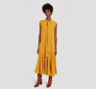 Mulberry Dena Dress Deep Amber Fluid Crepe