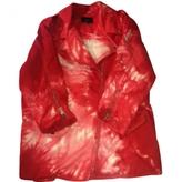 Isabel Marant Red Cotton Biker jacket