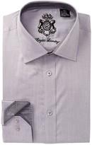English Laundry Pin Dot Pattern Trim Fit Dress Shirt