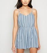 New Look Stripe Tie Back Beach Playsuit