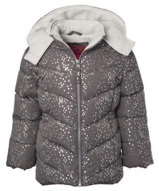 Pink Platinum Baby Toddler Girl Polka Dot Winter Jacket Coat