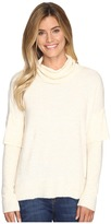 Lilla P Rib Sleeve Turtleneck