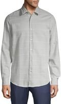 HUGO BOSS Regular-Fit Windowpane Plaid-Print Shirt