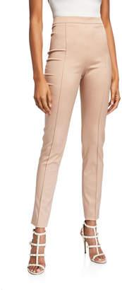 Valentino High-Waist Seamed Skinny Pants