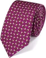 Charles Tyrwhitt Berry Wool Printed Luxury Tie