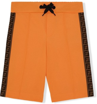 Fendi Kids FF stripe shorts