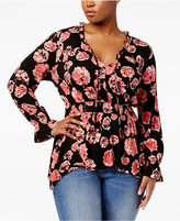 American Rag Trendy Plus Size Peplum Top, Only at Macy's