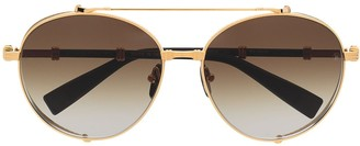 Balmain Eyewear x Akoni gradient double bridge sunglasses