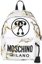 Moschino It's Lit Burn Printed Canvas Backpack