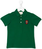 Gucci Kids tiger patch polo shirt