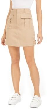 Bar III Cargo Mini Skirt, Created for Macy's
